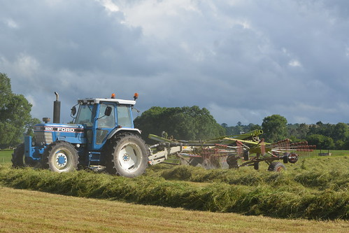 Ford 8210 Tractor with a Claas Liner 3100 Silage Rake