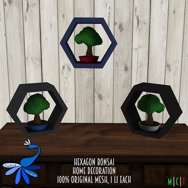 ZcZ Hexagon Bonsai