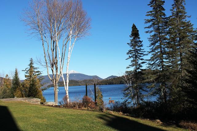 Stunning views of Lake Placid lake, Whiteface Mountain and surrounding High Peaks range.