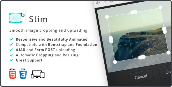Slim Image Cropper v1.1.1 - Image Cropper, Responsive Uploading and Ratio Cropping Plugin
