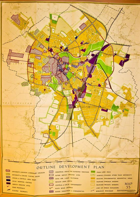 Cambridge Development Plan Holford 1950 HiRes