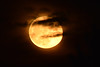 Super Moon in Clouds