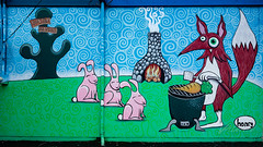 Barbecuing Fox, Bunnies Wait for Carrot