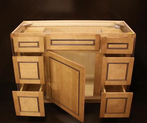 Kraftmaid Maple Bathroom Vanity Sink Base Cabinet 48 W Granite Tops In Stock Ebay